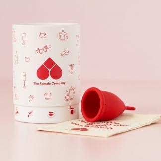 Menstruationstasse rot