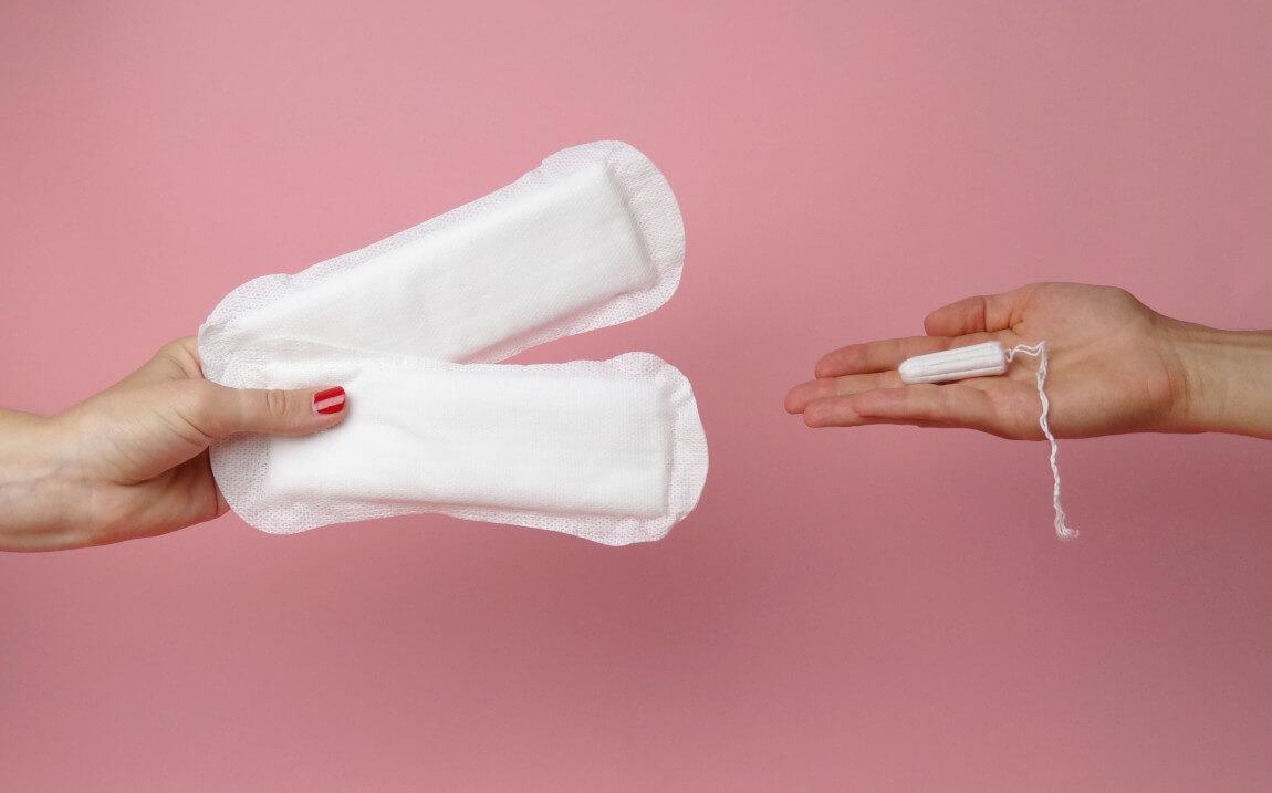 kostenlose Binden und Tampons