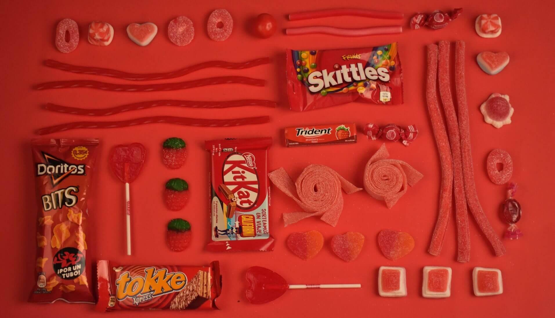 rotes Plastik
