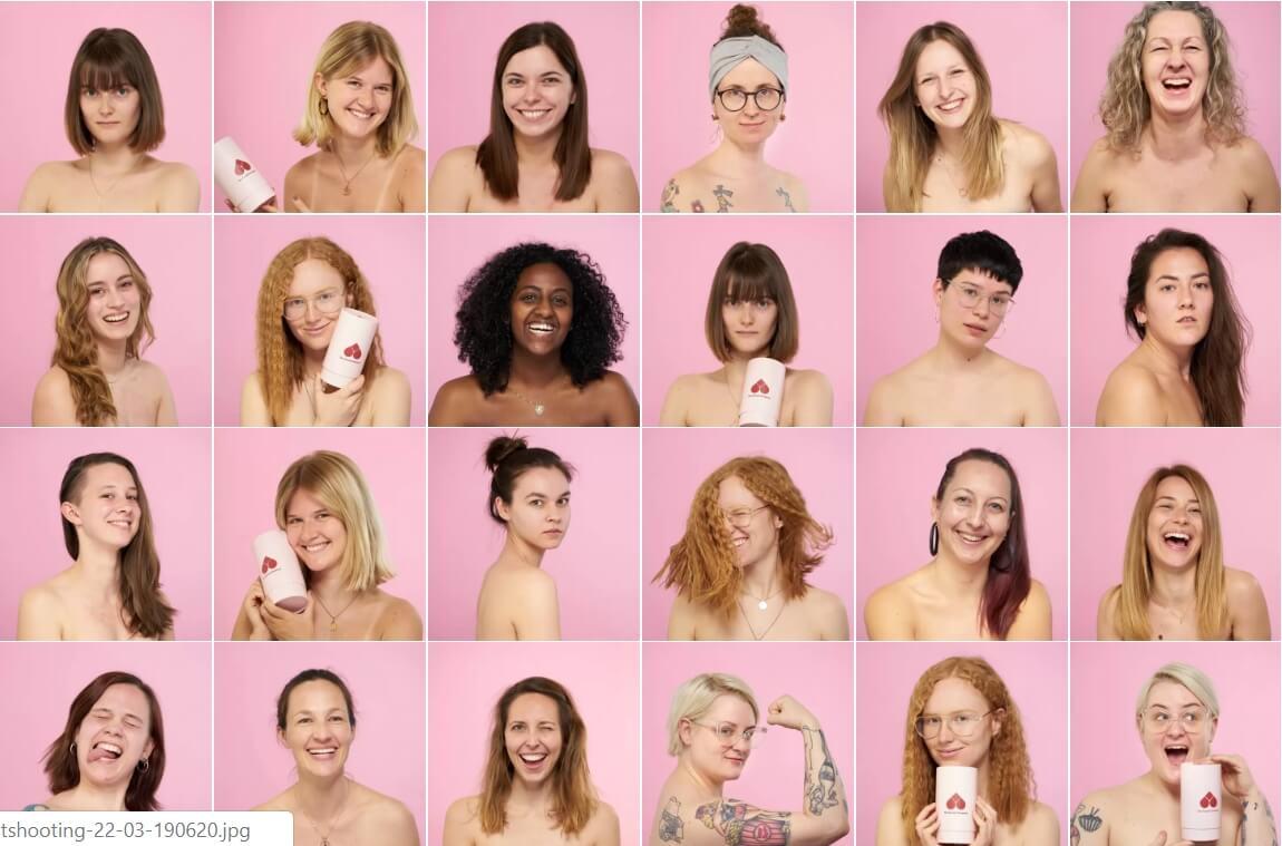 ungeschminkte girls naked box bio tampons