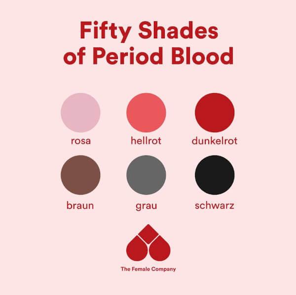 Braunes Blut? Periode in allen Farben erklärt - The Female