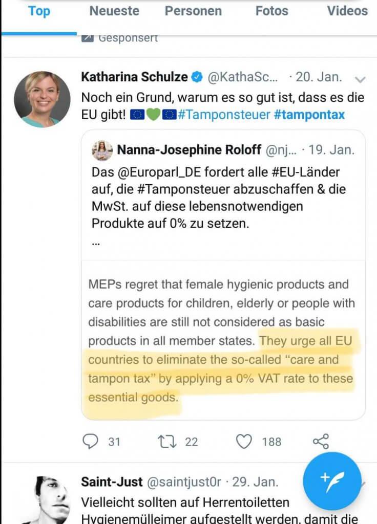 Twitterpost von Katharina Schulze
