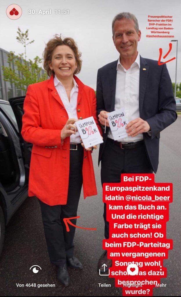 Nicola Beer FDP Tampon Book