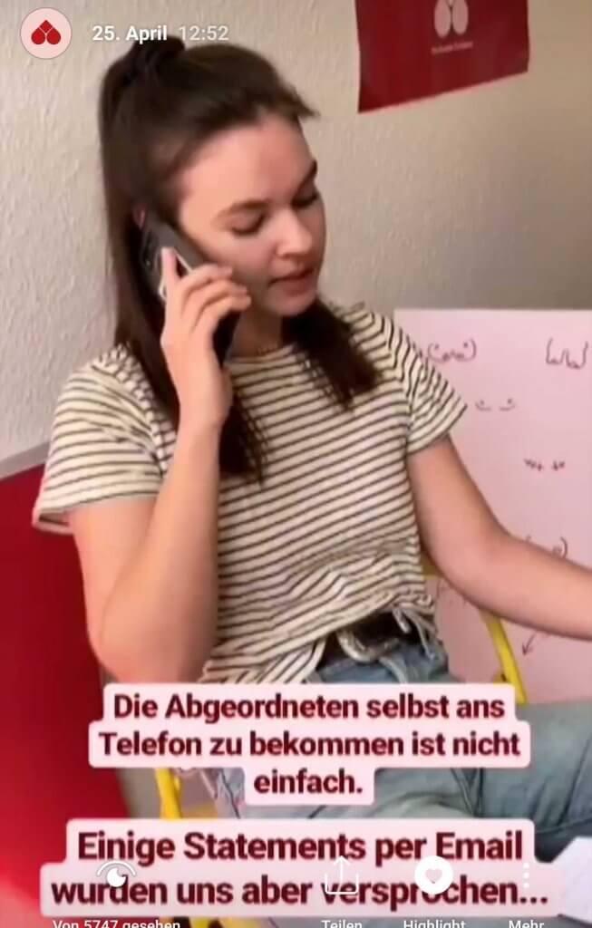 Telefonanrufe zur Tampontax