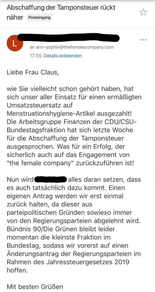 Tamponsteuer_Grüne